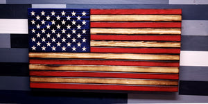 Rustic Traditional Style Wooden Flag