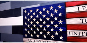 Pledge of Allegiance Classic American Flag