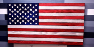 Classic Traditional Wooden Flag