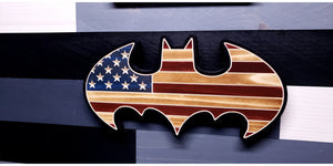 Rustic Batman Inspired Flag