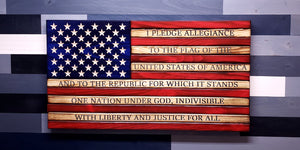 Rustic Pledge of Allegiance American Flag