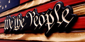 "Rustic Betsy Ross 1776 ""We the People""  Wooden Flag"