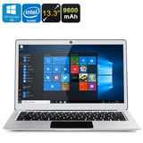 Jumper EZBook 3 Pro Windows Laptop - Intel Celeron N3450 CPU, 6GB RAM, 13.3 Inch Display, 9600mAh, Unlicensed Win 10 (Silver)