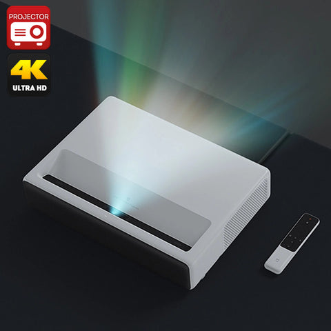 Xiaomi Mi Laser Projector - 1080p Native Resolution, 4K Support, MIUI TV, Quad-Core CPU, ALPD 3.0 Laser Light Source, 5000 lumen