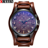 CURREN 8225 Men Military Sport Quartz Watches Mens Brand Luxury Leather Strap Waterproof Male Clock Wristwatch Relogio Masculino