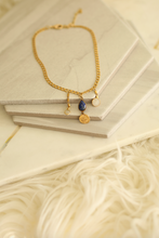Lapis and Evil Eye Mixed Charm Choker