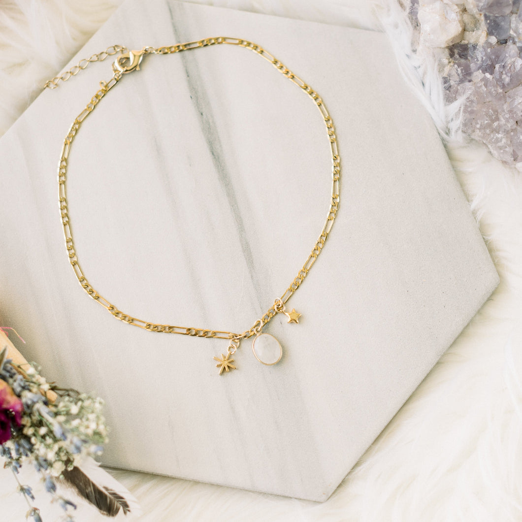 Moonstone Mixed Charm Choker