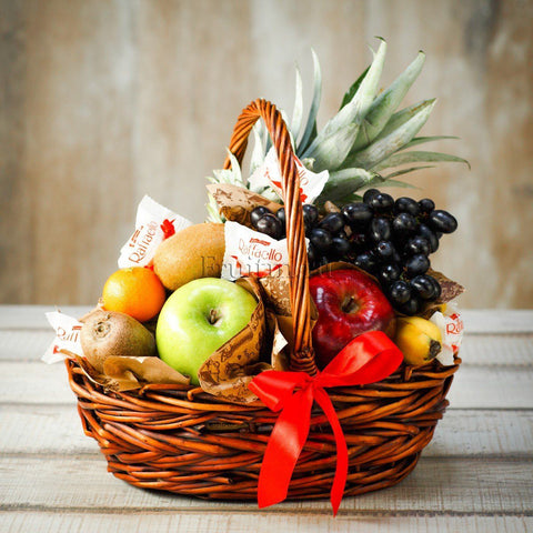 Lovely Fruit and Raffaello Gift Basket