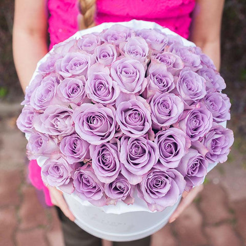 Pure Lavender King Size Rose Box