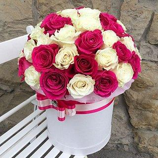 Pink Love Large Flower Rose Box