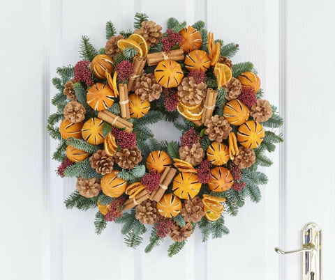 Citrus Pine Christmas Wreath