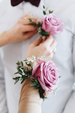 Lavender Moment Corsage and Boutonniere Set