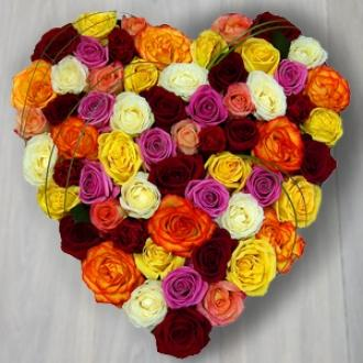 Assorted Rose Heart
