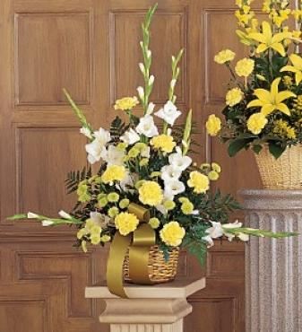 Vibrant Yellow Basket