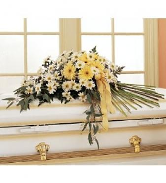 Drop of Sunshine Casket Spray