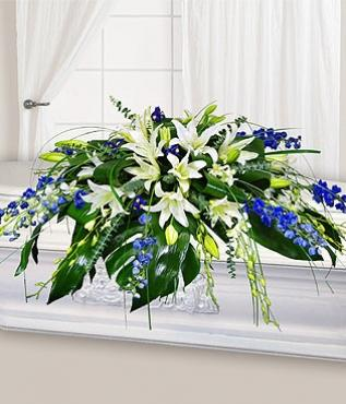 Blue Heaven Large Casket Spray