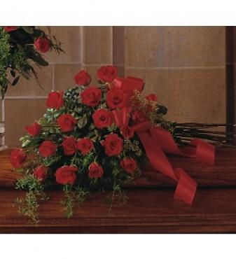 Red Rose Tribute Casket