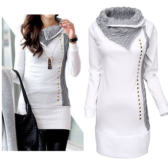 0dd25eaca New Women Long sleeve Hoodie Sweatshirt Jumper Pullover Tops Coat Winter  Ladies White Long Length Sweatshirts