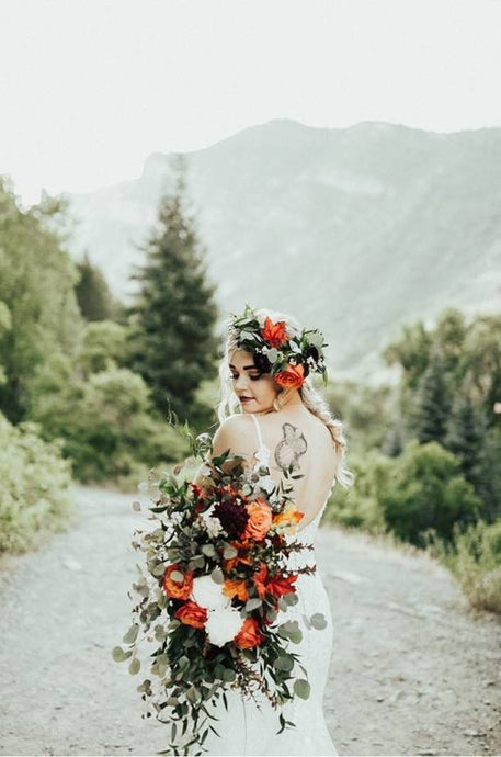 Bridal Bouquet and Head Wreath