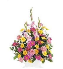 TF 186-1 Spring Colors in Funeral Basket