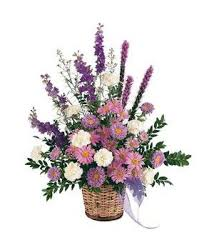 TF 186-2 White and Lavender Basket