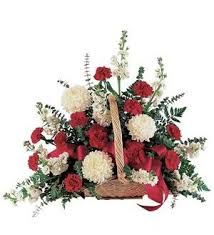 TF 187-8 Red & White Fireside Basket