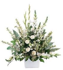TF 195-1 White Basket Arrangement