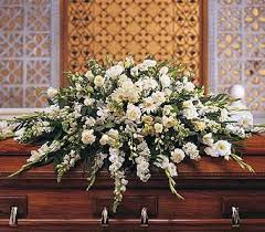 TF 195-3 White Casket Spray