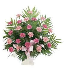 TF 198-3 Basket with Pink Carnations