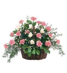 TF199-1 Basket with Pink Flowers
