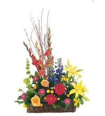 TF 203-11 Basket with Summer Flowers