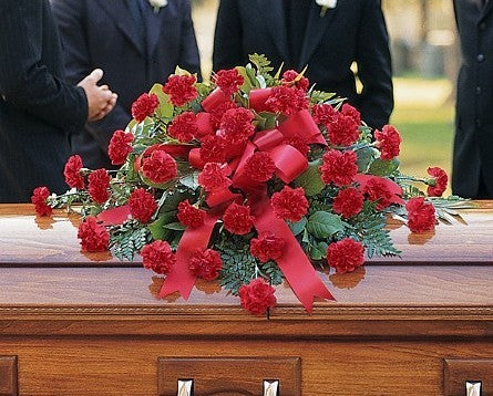 TF207-1 Red Carnation Casket Spray