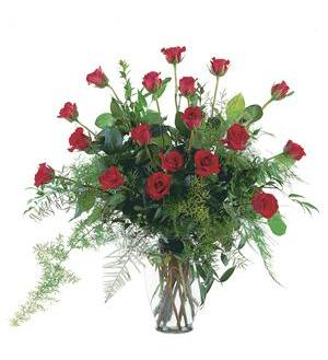 TF208-1 Red Roses in Vase