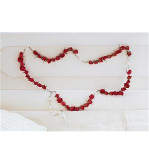 TF209-1 Rosary with Red Roses