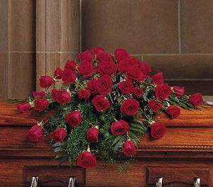 TF209-4 48 Red Rose Casket Spray