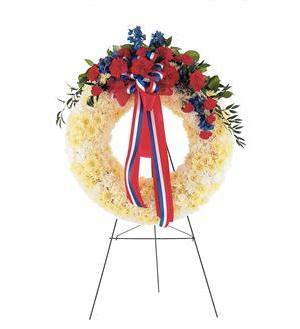 TF215-1 Red, White & Blue Wreath