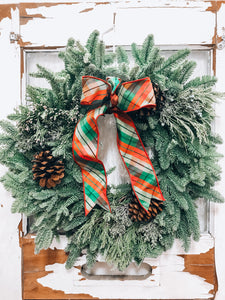 Christmas Mixed Wreath 24""