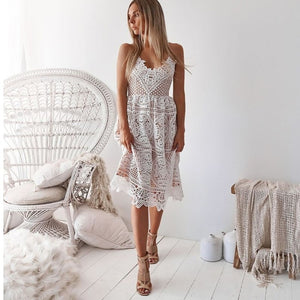 Sexy Crosia Net Dress