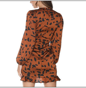 Trendy Leopard Print Mini Dress