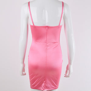 SUMMER SKINTIGHT BANDAGE HOLLOW OUT SLEEVELESS PARTY DRESS
