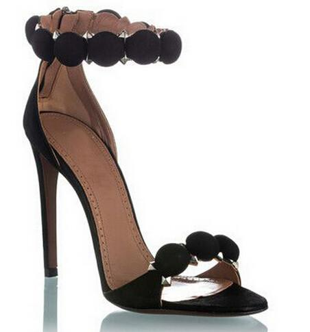 'Madalena' Suede Heels - Black - Clothing Buy Love