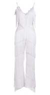'Tabbeka' Fringe Jumpsuit - White - Clothing Buy Love