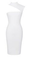 'Larona' Neck Cutout Dress - White - Clothing Buy Love