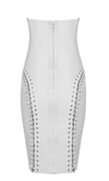 'Rabea' Strapless Chain Bandage Dress - White - Clothing Buy Love