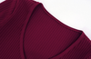 'Venisa' Cutout Knit Dress - Deep Red - Clothing Buy Love
