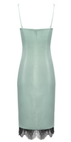 'Parsleigh' Satin Silk Lace Dress - Blue Green - Clothing Buy Love
