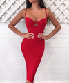 'Tomlin' Bustier Bandage Dress - Red - Clothing Buy Love
