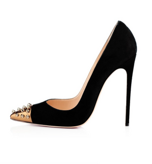 'Giada' Studded Suede Stiletto - Black - Clothing Buy Love