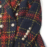'Sabina' Plaid Tweed Buttoned Blazer Jacket - Red - Clothing Buy Love
