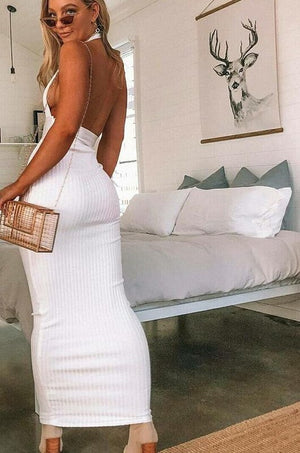 Backless Pencil Party Dress